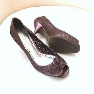 BCBG leather plum shoes - Size 37
